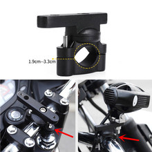 Universal CNC Motorcycle Handlebar Extension Bracket Post Mount for LED Light Phone Holder Motorcycle Extension Bracket(China)