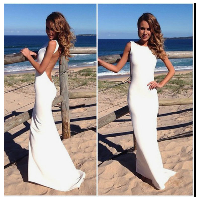 LORIE Boho Wedding Dress Mermaid Style Spandex Long
