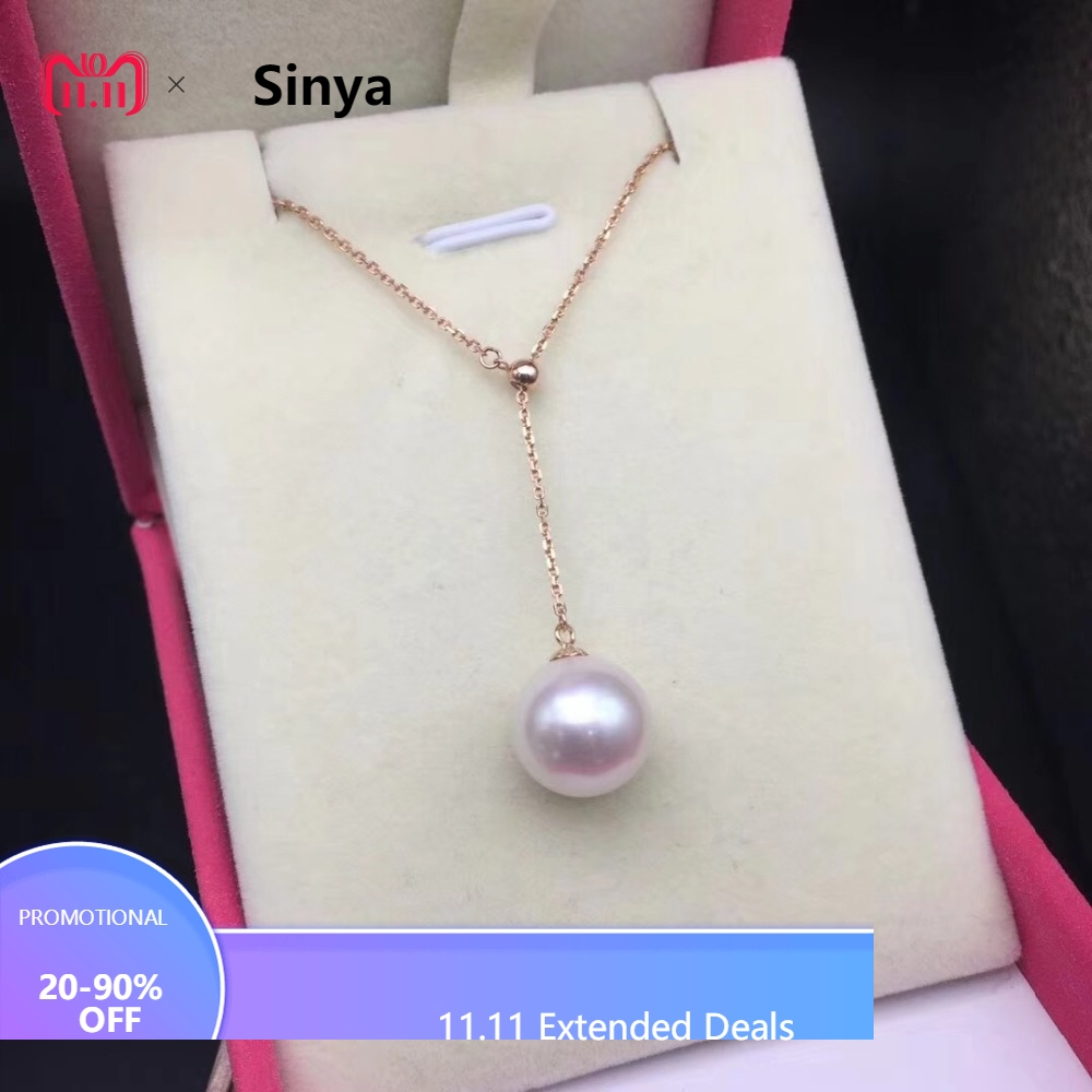 8-9mm Akoya pearls 18k gold Multifunctional Pendant Necklace high luster pearls Fine jewelry for women ladies Mother girls gift украшение на шею mikimoto 8 8 5mm akoya 18k
