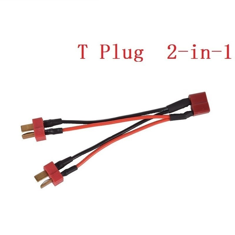 Upgrade Battery Capacity (2 in 1) T plug Connectors Battery balance Cable For RC 7.4v 11.1v 14.8v 22.2v Lipo Battery 2s/3s/4s/6sUpgrade Battery Capacity (2 in 1) T plug Connectors Battery balance Cable For RC 7.4v 11.1v 14.8v 22.2v Lipo Battery 2s/3s/4s/6s
