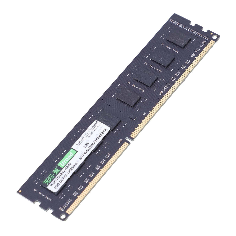 Uroad DDR3 Ram 1600 1333 MHz Não Ecc Memória PC Desktop 240 Pinos Sistema Compatível Com Alta