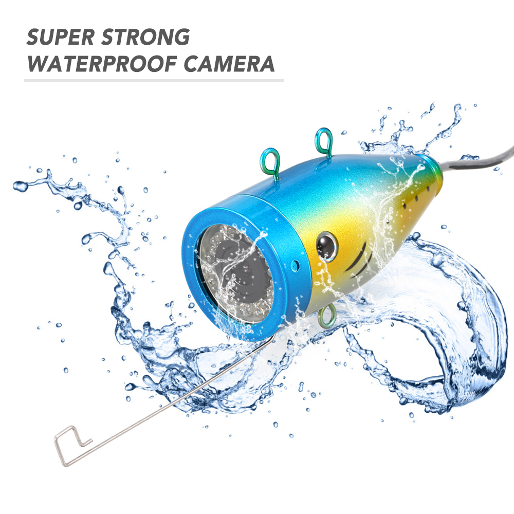 Fishing Camera 24 LEDs Underwater Camera For Fishing Boat Ice Fish Finder Accessories 15m/30m/50m Cable