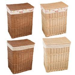 Natural Wicker Dirty Clothes Storage Basket Mesh корзина для белья With Lid Large Capacity Household Sundries Organizer