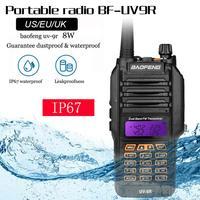 Baofeng UV 9R IP67 8W Long Range Walkie Talkie 10km Amateur Radio Dual Band UV9R Portable CB Radio Communicator
