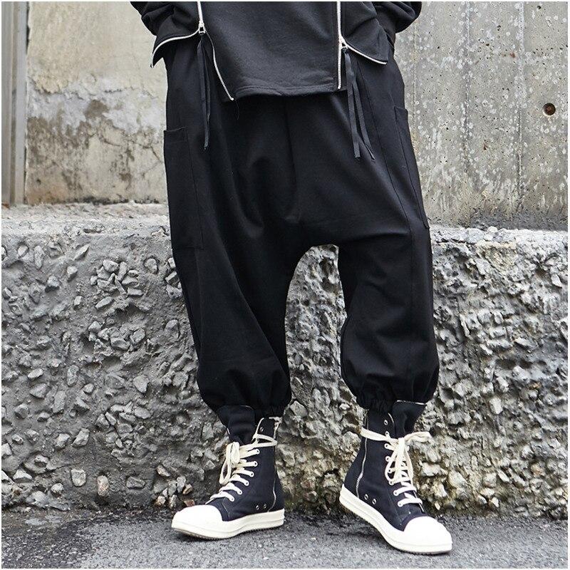 Modo Coulisse Allentato Elastico Del Dei Casual Abbigliamento Uomini Hip  Tendenza New Hop Con Piedino Pantaloni Streetwear Maschile Autunno In Larghi  Uomo ... 28ae4eec5e07
