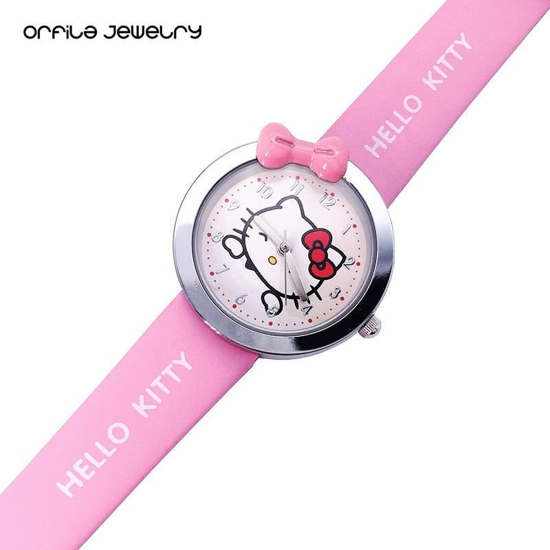 18c4d0fd57 ORFILA Hot Sale Hello Kitty Women Watches Watch For Girls Clock Kids  Wristwatch Children Baby Girl Watch Quartz Cartoon -in Children s Watches  from Watches ...