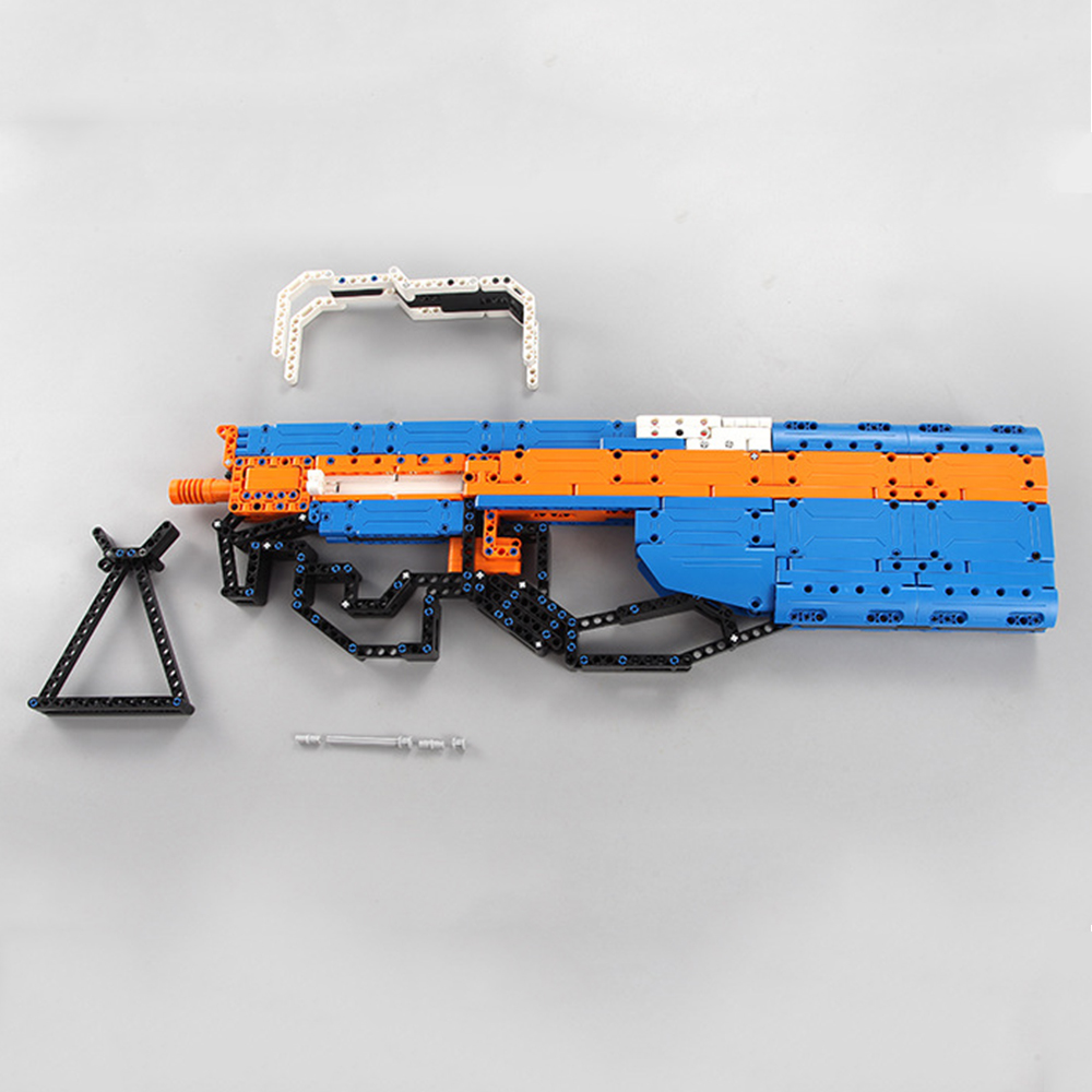 building blocks P90 Assualt Rifle gun  military bricks weapon set can fire  rubber band  toy for children boys 4