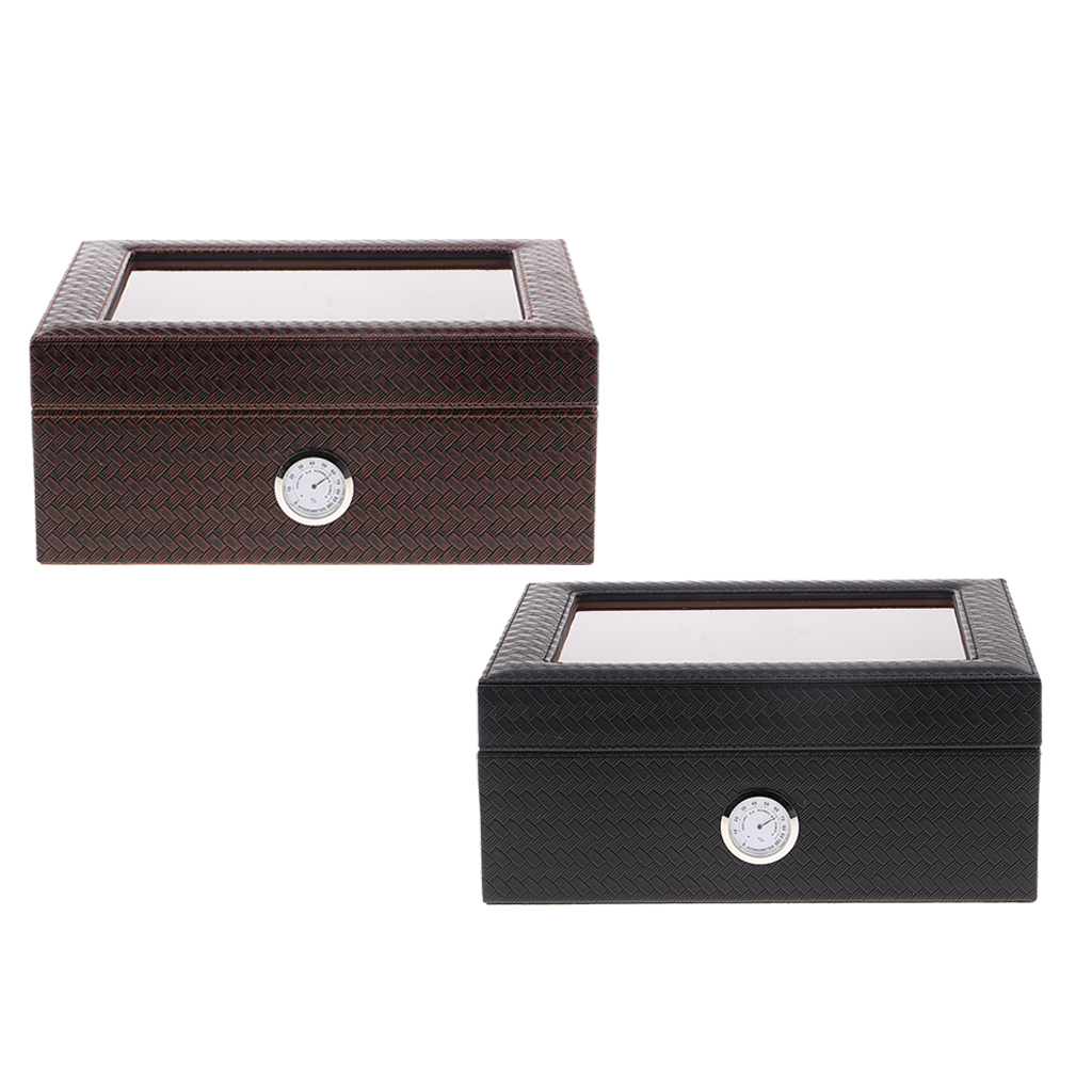 Portable Wooden Cigar Travel Humidor Box Case with Humidifier Hygrometer for Cigar Lovers Gift 224 x