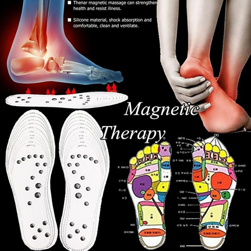 Unisex Men/Women Magnetic Massage Insoles Therapy Foam Health Care Pain Relief Foot Pad Massage Insole цена