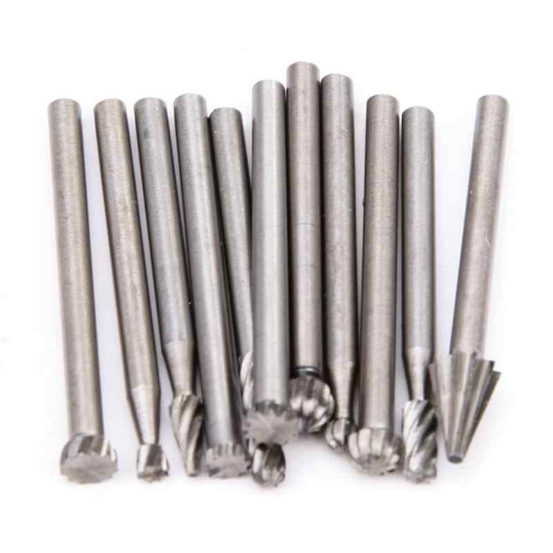 20 יח'\סט 3mm עץ מקדח חרירים עבור Dremel קבצים מצורפים HSS נירוסטה עץ גילוף כלים סט נגרות