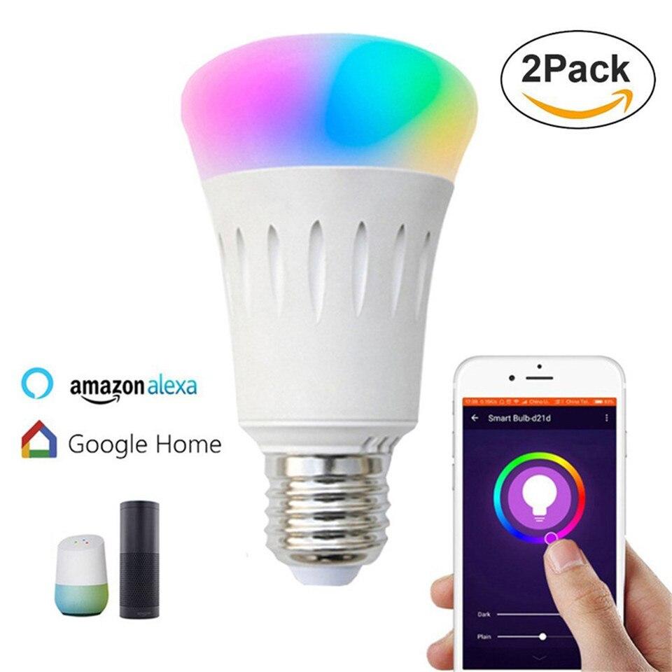 Dj светодиодные фонари для вечерние RGB светодиодные лампочки E27 7 Вт звуковая система управления с alexa echo интеллигентая (ый) домашнего освещен