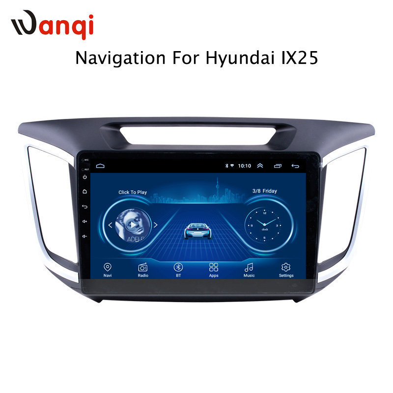 10.1 Inch HD LED Full Touch Screen Android 8.1 GPS Navigation for Hyundai IX25 2014-2018 Stereo System with Bluetooth10.1 Inch HD LED Full Touch Screen Android 8.1 GPS Navigation for Hyundai IX25 2014-2018 Stereo System with Bluetooth