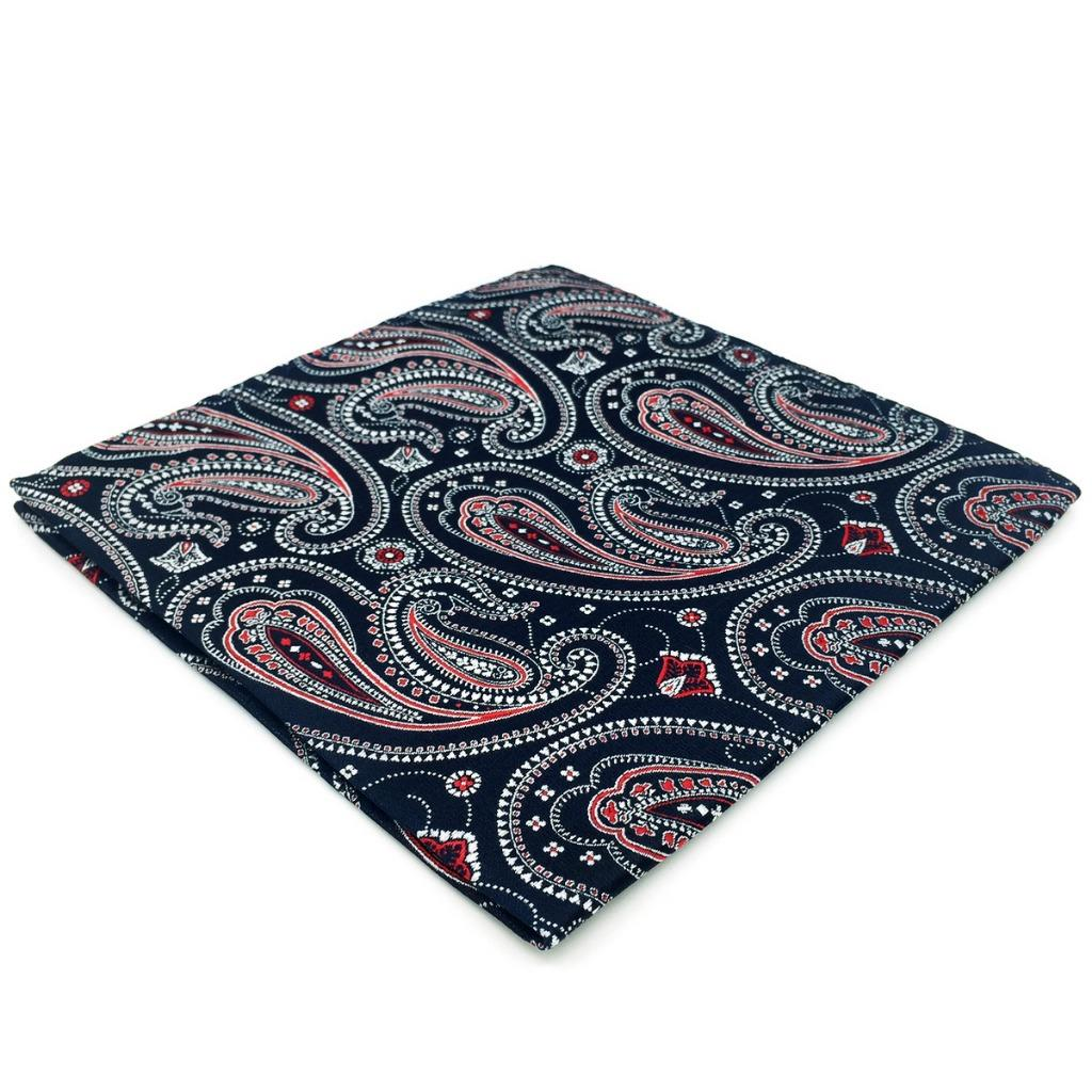 EH29 Paisley Mens Pocket Square Blue Multicolor Fashion Wedding Novelty Hanky