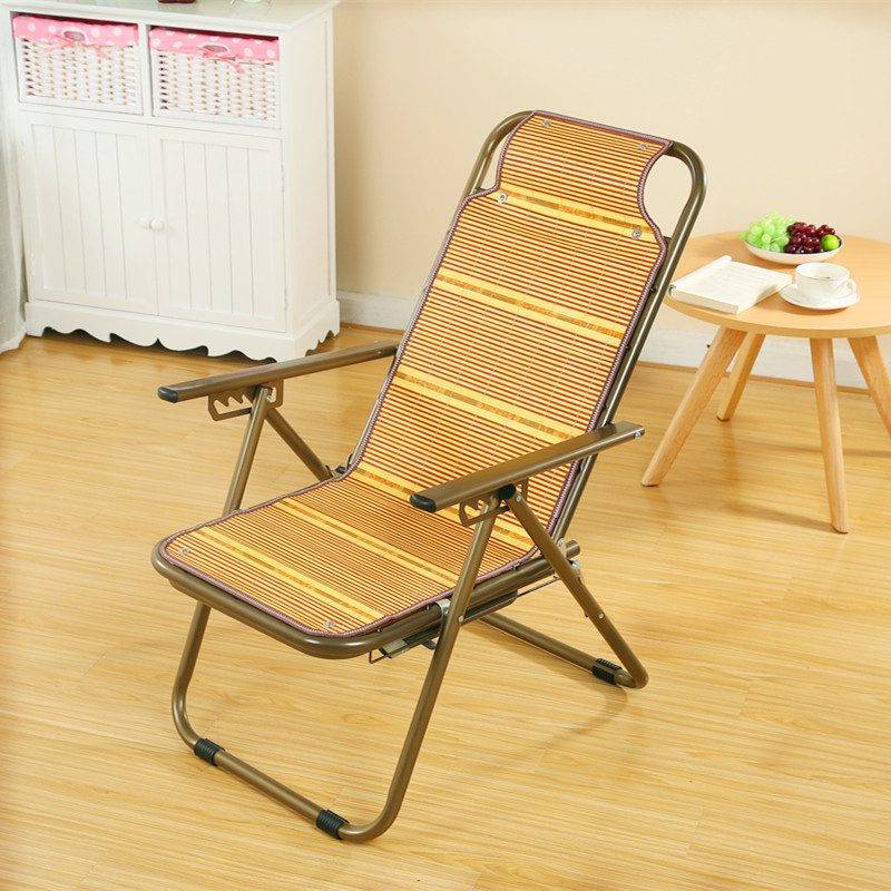 Бамбуковый Коврик шезлонг стул для пожилых беременных женщин обеденный перерыв стул Щелкунчик Прохладный стул - 3