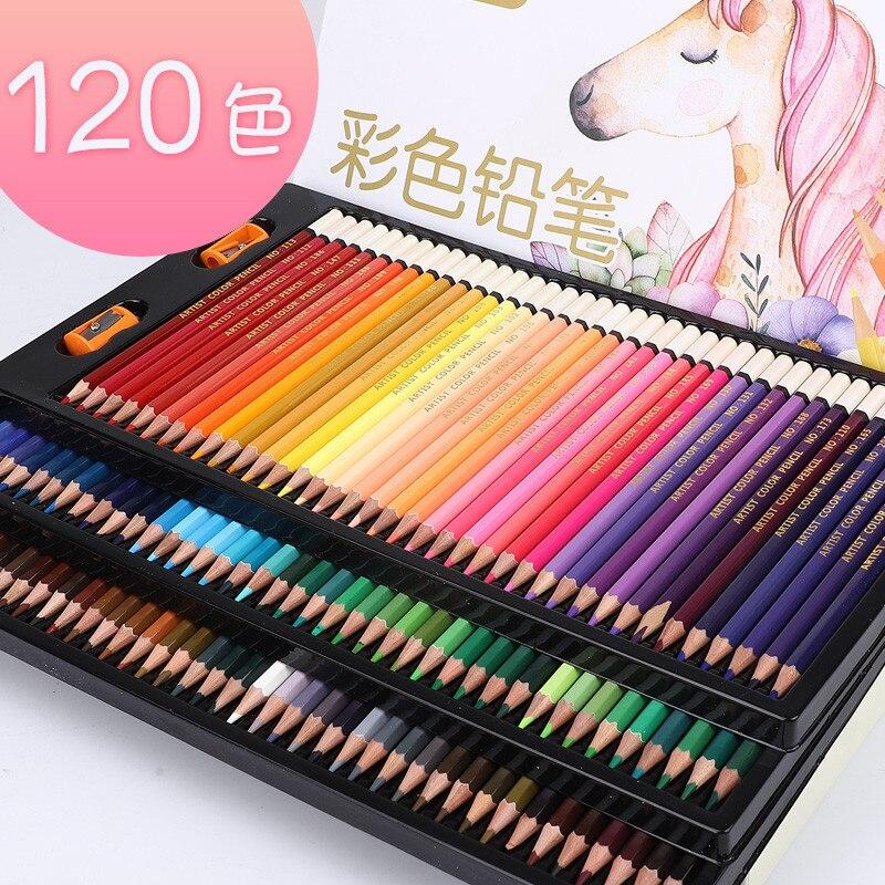 Brise 120 couleurs crayons de couleur huileux ensemble artiste peinture (haute qualité) crayon de couleur pour l'école dessin croquis Art fournitures