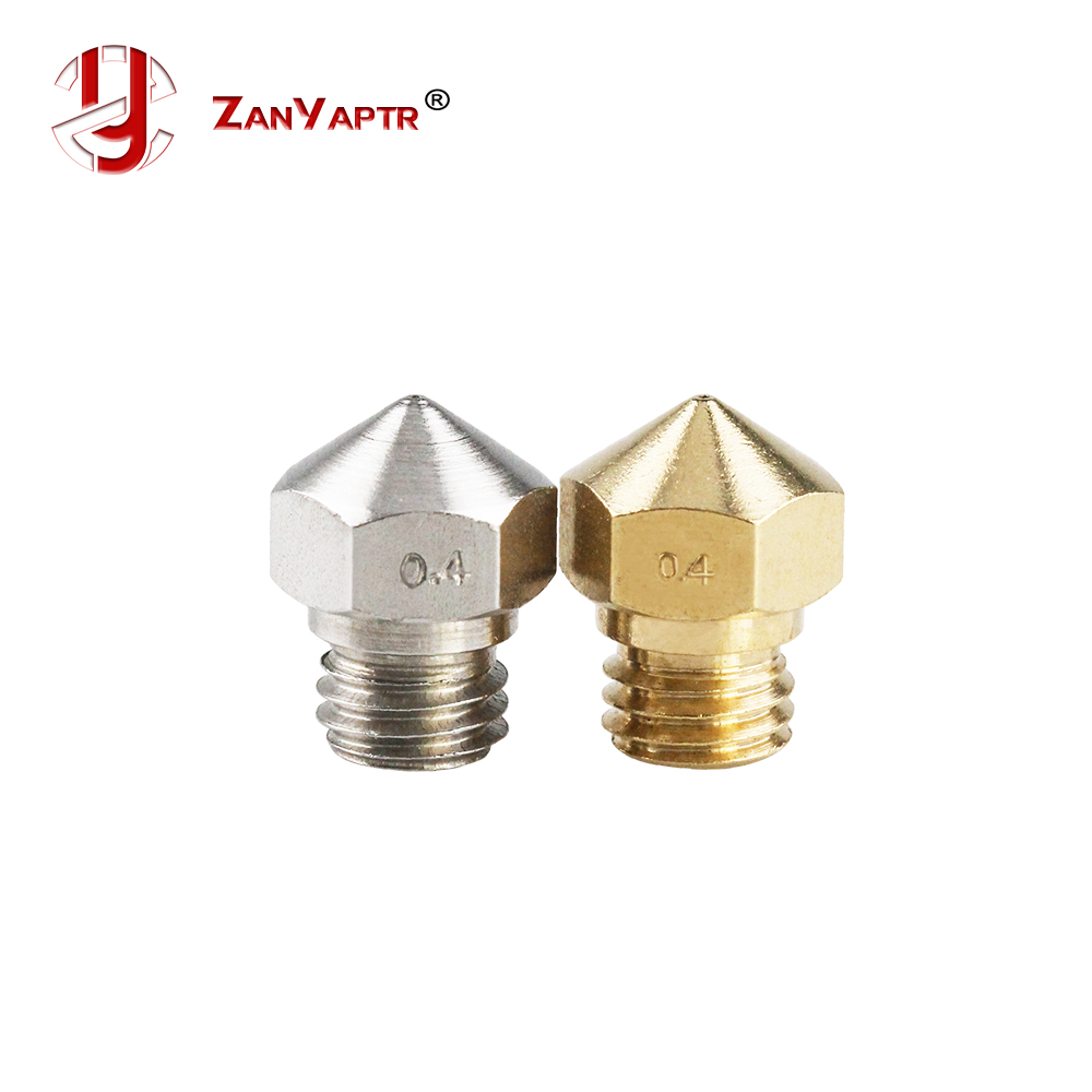 MK10 3D Printer Reprap Makerbot2 M7 Brass Stainless Steel Nozzle 0.2/0.3/0.4/0.5/0.6/0.7/0.8/1.0/2.0mm For 1.75mm Filament