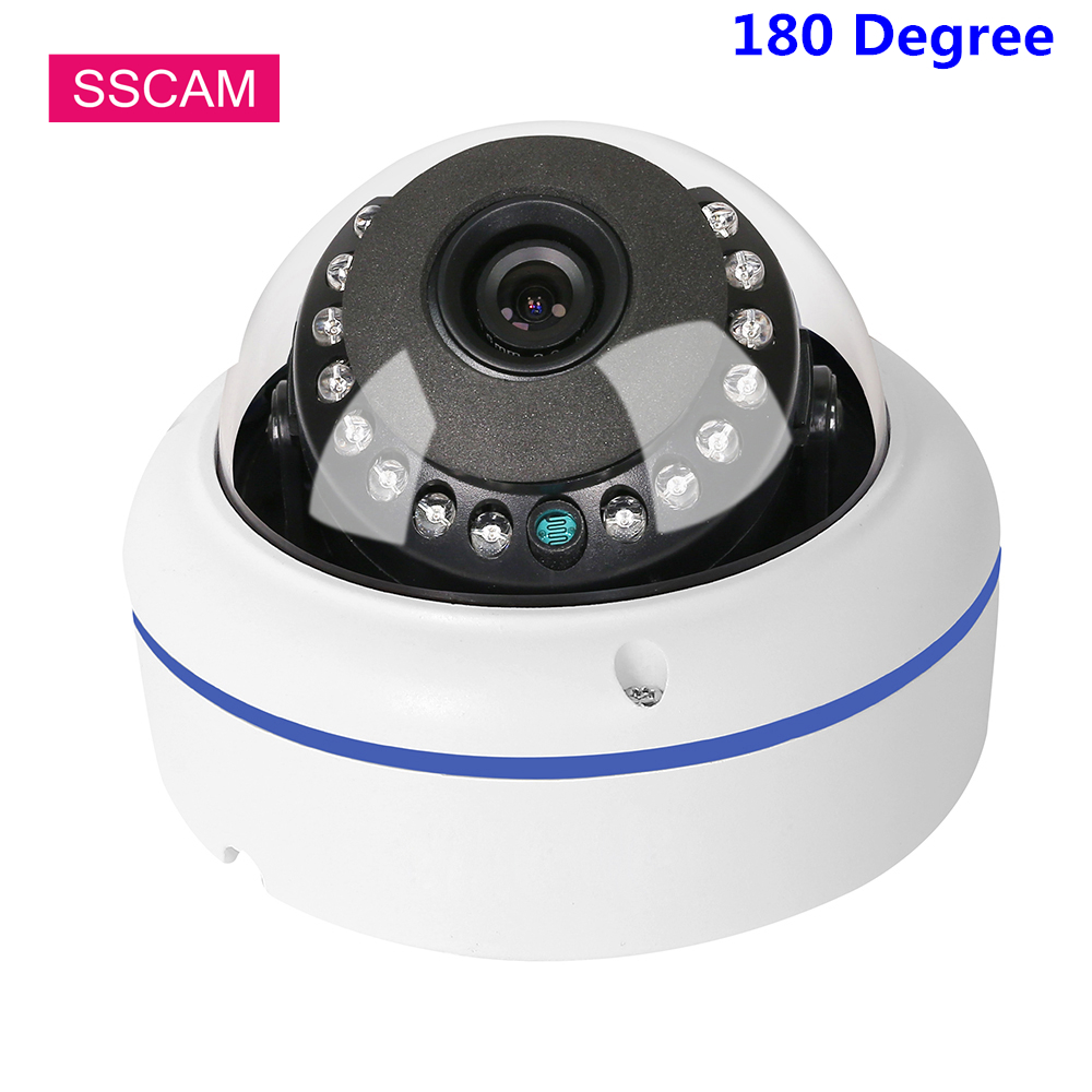 High Definition Dome AHD CCTV Camera Wide Angle 2MP 4MP 20M IR Night Vision 180 Degrees Video Surveillance Home Secuerity Camera image