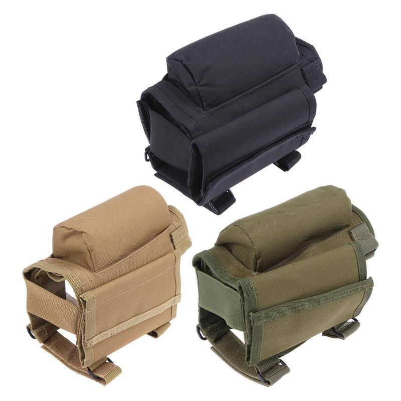 Portátil ajustable al aire libre trasero de Rifle Resto de mejilla bolsa bala bolsa
