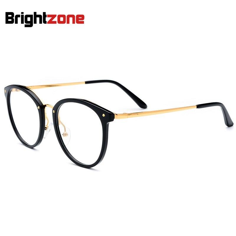La monture de lunettes rondes en acétate tendance coréenne mérite d'être remplie de lunettes optiques multifocales pour hommes surdimensionnées