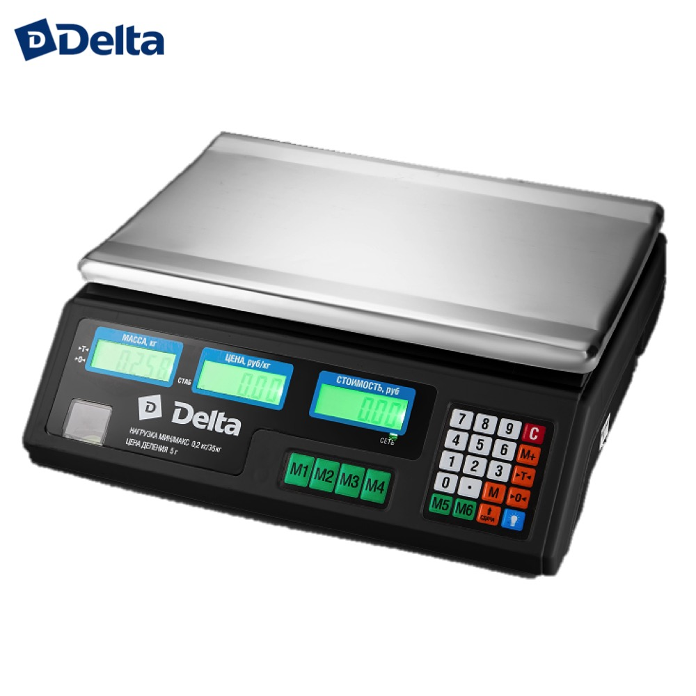 Weighing Scales Delta TVN-35 do 35kg/5g Commercial Electronic desktop mass measurement Industrial цена