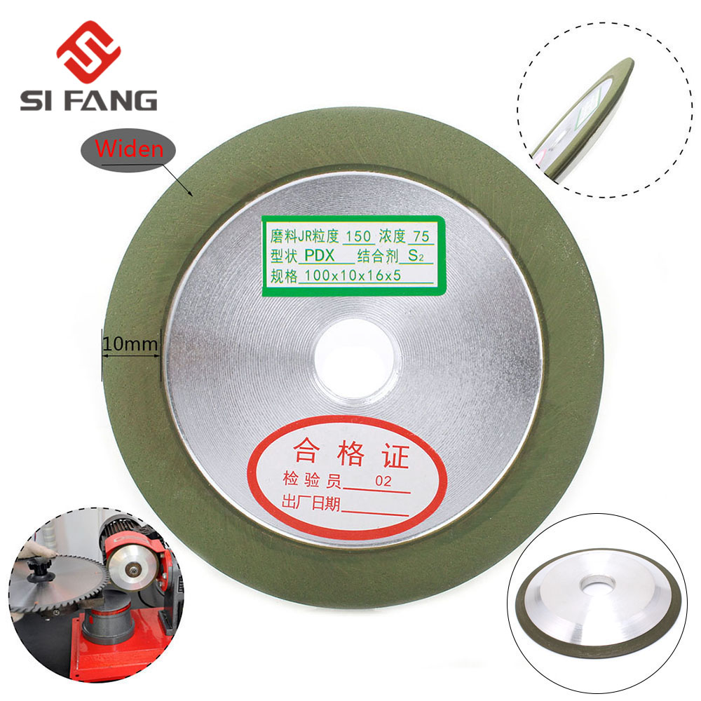 4'' Widen Grinding Diamond Wheel Sharpener 100mm Hypotenuse Style For Carbide Metal