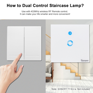 Image 4 - EWeLink Push Button Wall Light Switch Remote Controller 1/2/3 Gang 86 Type 433MHz Wireless RF Remote Control Smart Home Living
