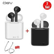 OGVMini I7S Bluetooth наушники TWS беспроводные наушники воздушные вкладыши наушников в ухо наушники Спортивная гарнитура стерео для apple iPhone xiaomi