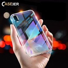 купить CASEIER Clear Phone Case For iPhone X XS Max XR 4 4S 5C Soft Silicone Case For iPhone 8 7 6 6s Plus 5 5S 4 4S 5C Funda Capa по цене 73.6 рублей