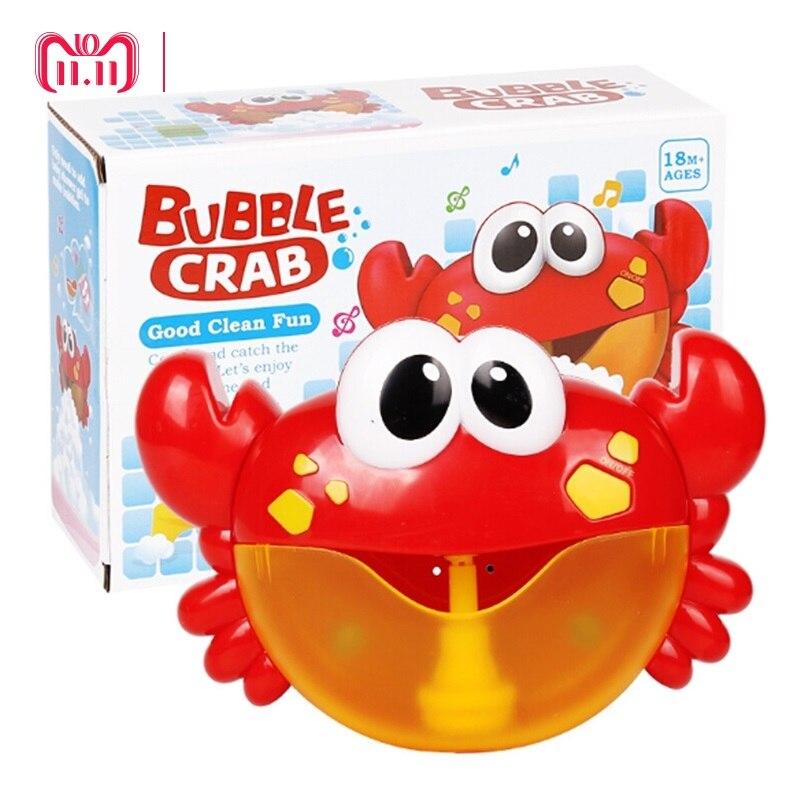 DROPSHIPPING Blase Krabben Baby Bad Spielzeug Lustige Bad Blase Maker Pool Schwimmen Badewanne Seife Maschine Spielzeug für Kinder Kinder Geschenk