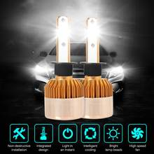 Onever 2pcs H4 LED H7 H11 H8 9006 9005 H1 H3 Car Headlight Bulbs LED Lamp Auto Fog Lights 6000K 12V 8000LM(China)