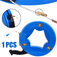 Fiberglass Fish Tape Reel Puller Conduit Duct Rodder Pulling Wire Cable 4mmx45m for Heavy Duty Wire Pulls Conduit