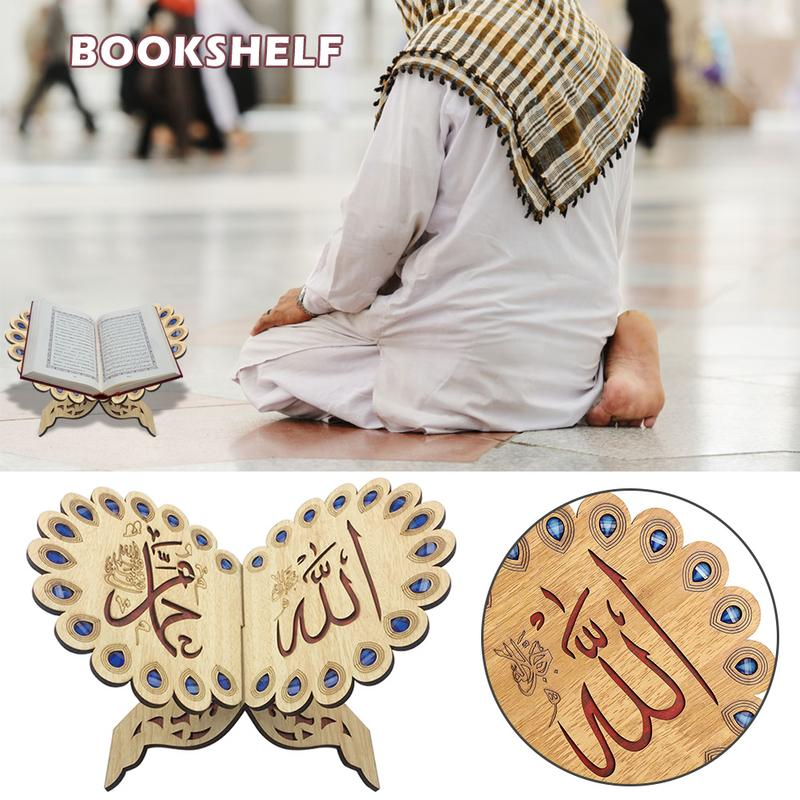 Ramadan Eid Decor Crystal Quran Book Allah Islamic Muslim Gift Scripture For Home Decor Polishing Quran Book Bookends Ornament Desk Accessories & Organizer