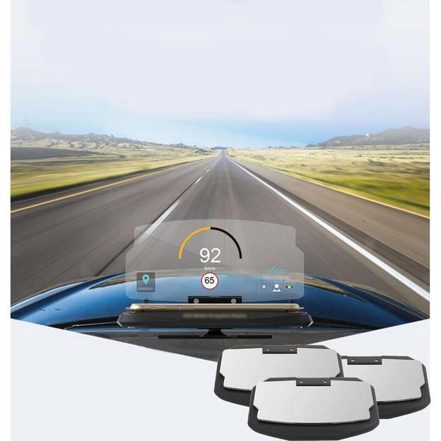 Car HUD Holder Head Up Navigation Display For up 6.5 inch Mobile Hud Projector Smart Black Phone Holder Stand