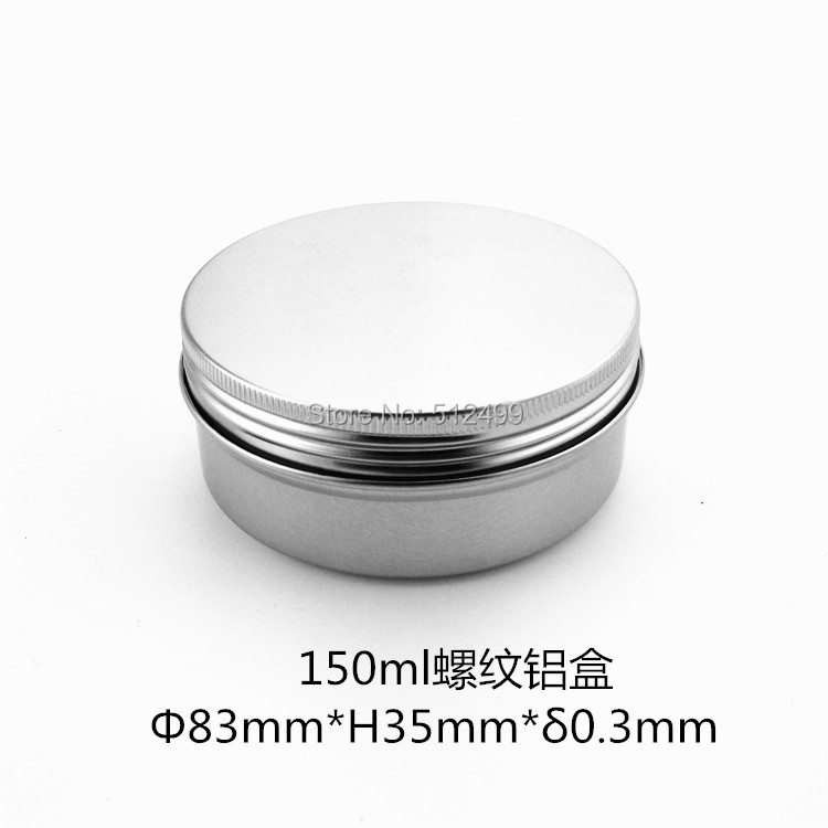 150g refillable box empty round aluminum metal tin cans bottle with lids 150ml cosmetic cream box DIY seal 83*35mm aluminum jar купить дешево онлайн