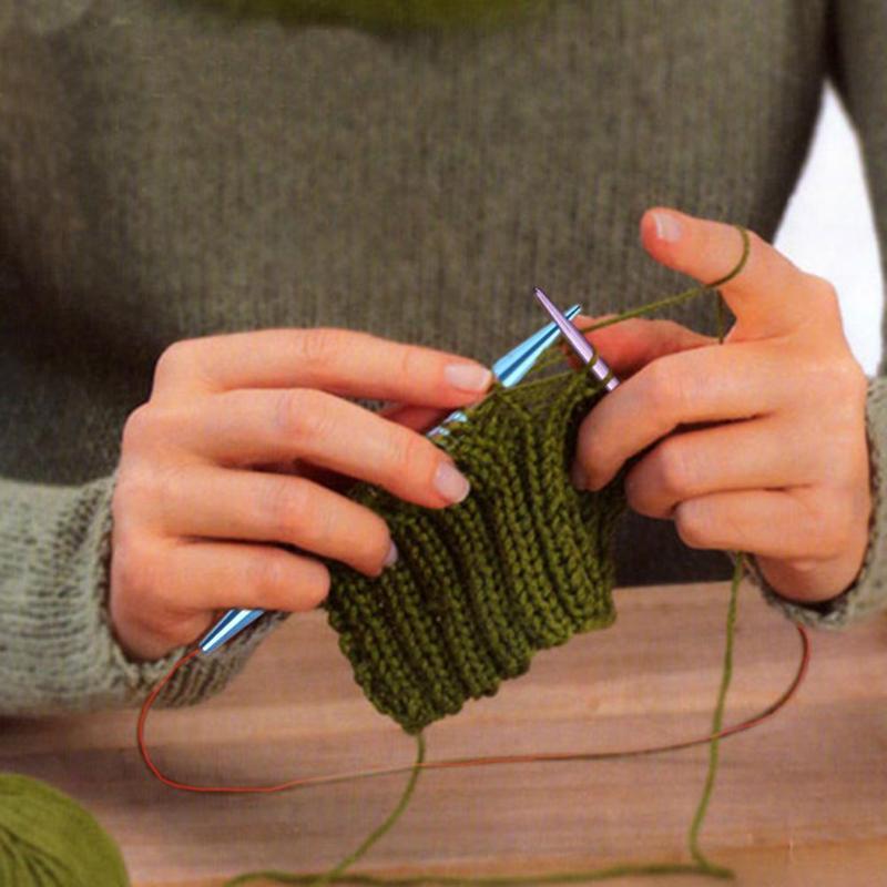 13 Pairs Aluminum Change Head Circular Knitting Needle Ring Set Crochet Hooks Scarf Sweaters Knitting Tools Woven Tools