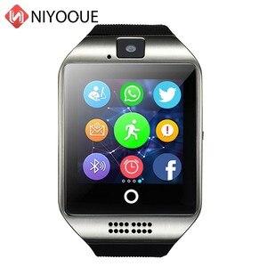 Image 1 - Inteligentny zegarek Q18 obsługa karty Sim zdalna kamera dla IOS Android nosić Wach PK DZ09 GT08 zegarek Smartwatch z telefonem Relogio Inteligente
