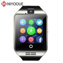 ساعة ذكية Q18 دعم بطاقة Sim كاميرا عن بعد ل IOS أندرويد ارتداء Wach PK DZ09 GT08 هاتف الساعة الذكي Relogio Inteligente