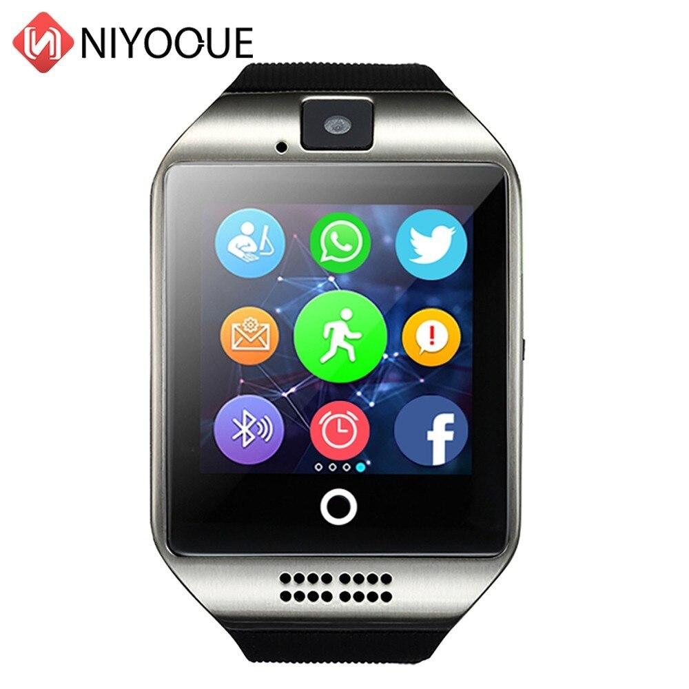 Relógio inteligente Q18 Apoio Cartão Sim Da Câmera Remota Para IOS Android Desgaste Wach PK DZ09 GT08 Relogio Smartwatch Telefone Inteligente