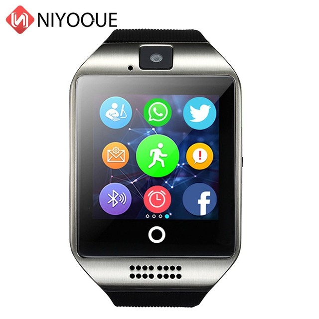 Smart Watch Q18 supporto Sim Card telecamera remota per IOS Android Wear Wach PK DZ09 GT08 Smartwatch Phone Relogio Inteligente