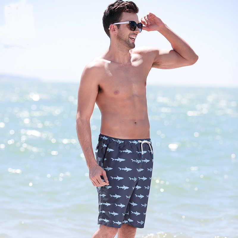 Summer Men's Board Shorts Beach Pants Quick Drying Swimwear Male Liner Mesh Sweat Swimming Trunks Sexy Shorts