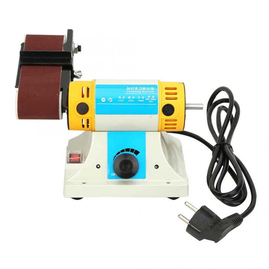 Electrical Belt Sanding Grinding Machine 750W EU Plug 220V Multi function Polishing Desktop Sander Power Tool