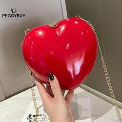New Shoulder Bag Women for Peach Heart Red Black Large Capacity Women's Shoulder Chain Crossbody Messenger Bag Bolsa Femimina