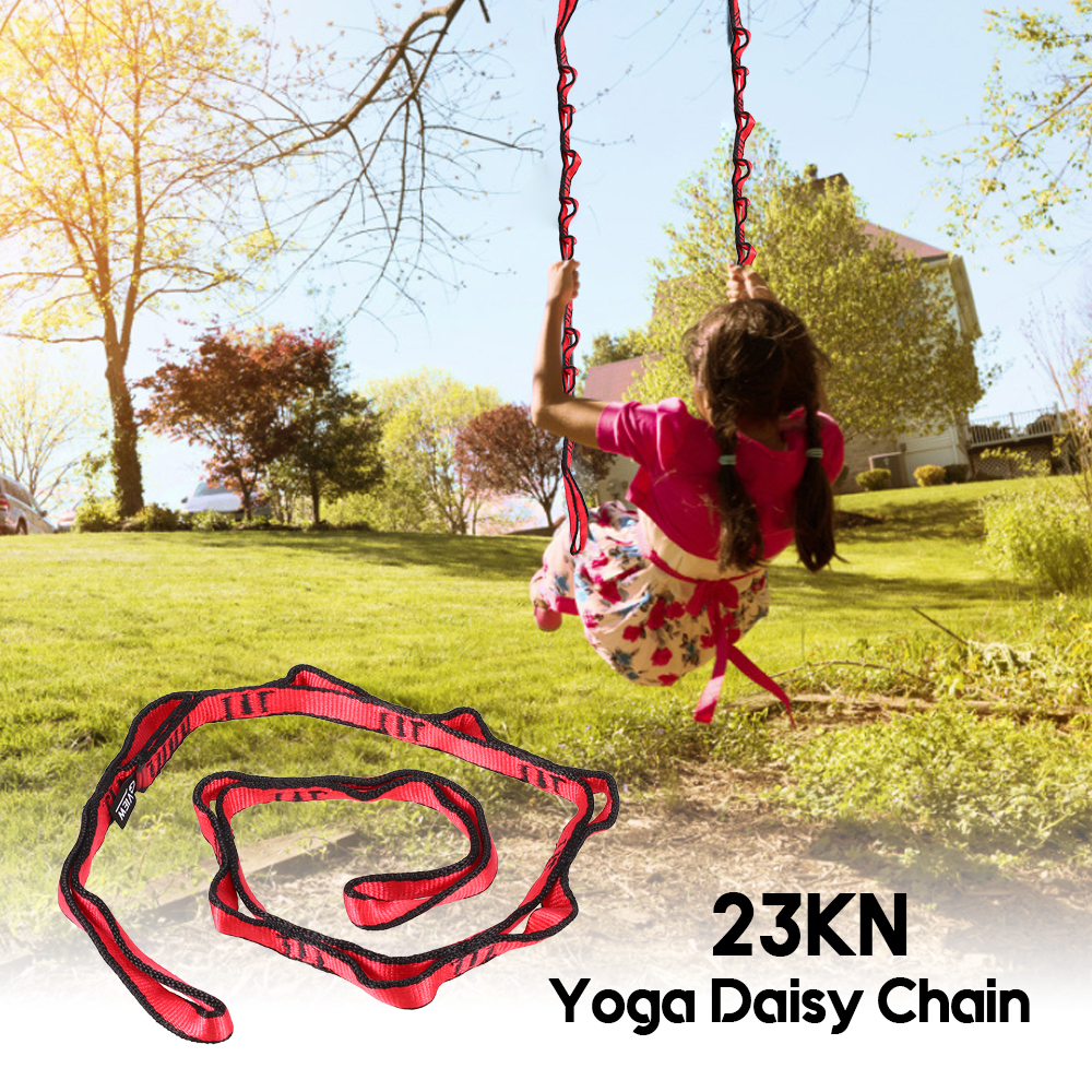 Diplomatic 110cm 23kn Yoga Dasiy Chain Nylon Climbing Loop Strong Yoga Hammock Tree Swing Strap Safety Climbing Sling Hanging Belt Fixing Prices According To Quality Of Products Resistance Bands Yoga
