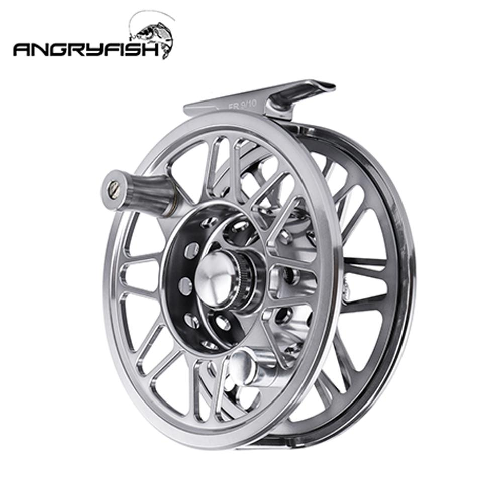 Angryfish 3/4 5/6 7/8 9/10 WT Fly Fishing Reel Aluminium Alloy 2+1BB 1.0:1 Handle Left/Right Fly Reel with Bag for Lake River