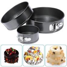 Tool Baking Black Pan Cheesecake Round Cake Nonstick Kit Leak-proof Pan 4inch/7inch/9inch Kitchen