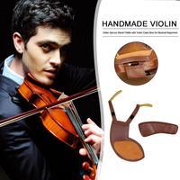 Grinded Sheepskin 2 in 1 Detachable Violin Shoulder Rest Chinrest Pad Violin Chin Shoulder Fiddle Musical Instruments