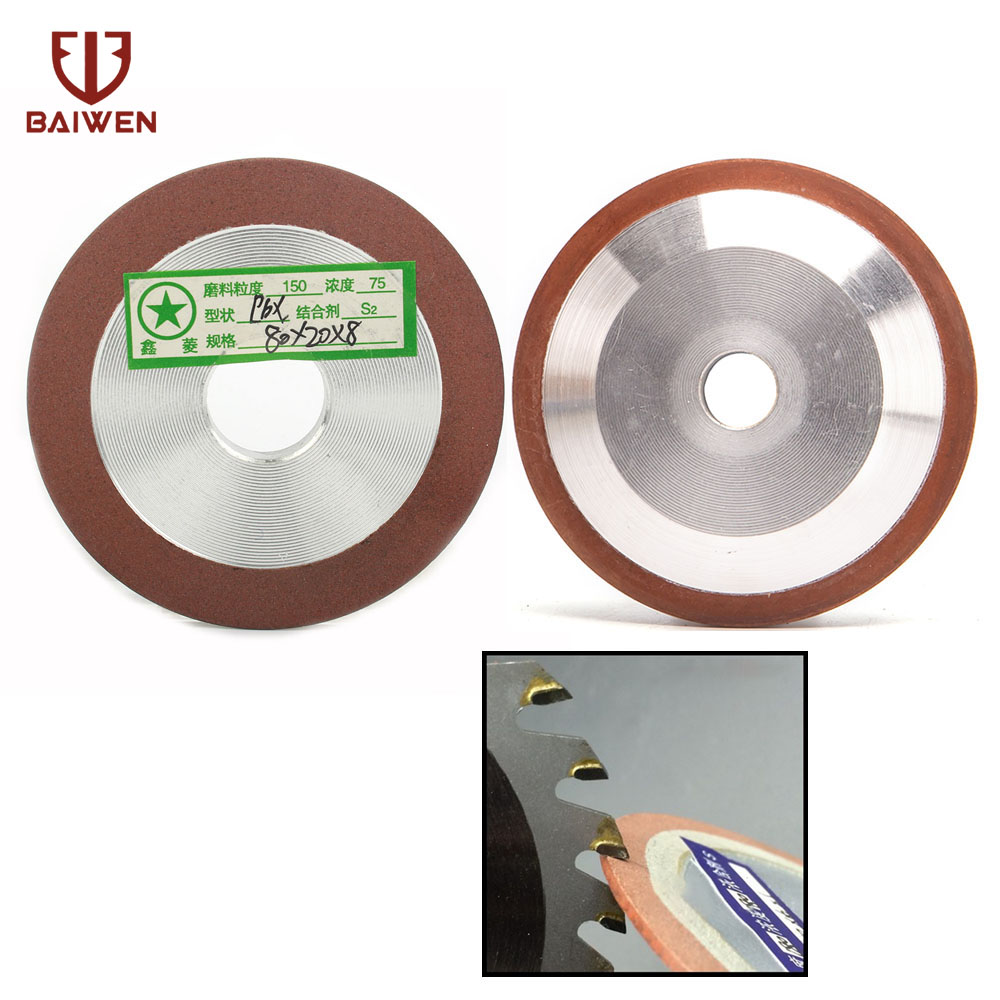 80mm Diamond Grinding Wheel Disc Sharpener For Carbide Cutter Tool Metal Alloy Milling Grinder Accessories Grit150
