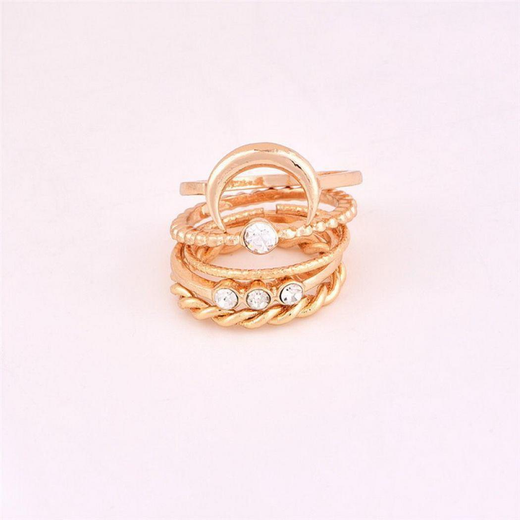 Jewelry & Accessories Popular Brand 1 Open Women Ring Casual Cm Inch Rhinestone Fashion Shape Gold 2 1 Leaf Flower Jewelry 9 Ring Silver