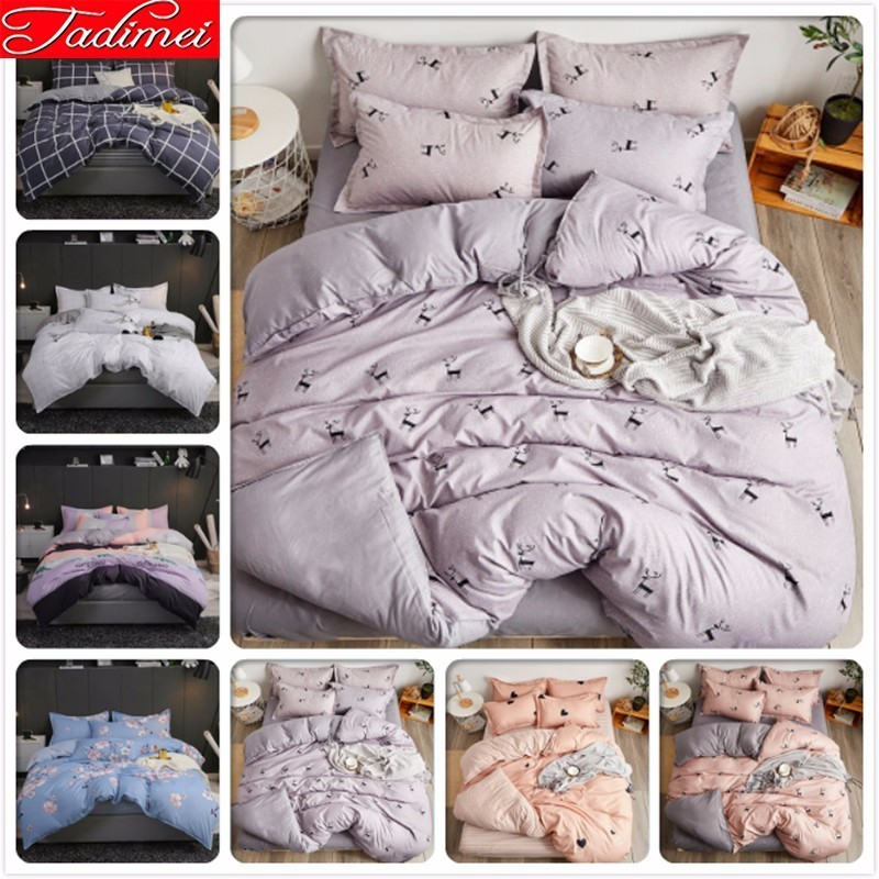 Adult Kids Soft Cotton Duvet Cover Bedding Set Sheet Pillowcase Bed Linen Single Twin Queen King Size Bedspreads 200x230 220x240