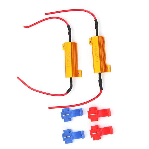 In Workmanship Alert 2pcs 12v 50w 8ohm Led Load Resistors Fix Bulb Fast Hyper Flash Tail Signal Blink Load Resistors Remove Breakdown For Led Exquisite